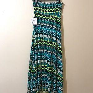 NWT Lularoe Green Maxi Skirt